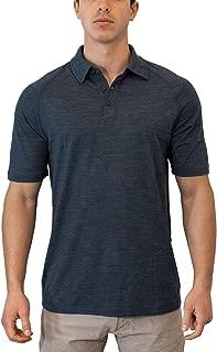 Woolx Men's Summit Lightweight Breathable Merino Wool Short Sleeve Polo Shirt
