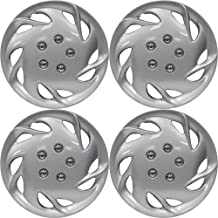 Hubcaps 15 inch Wheel Covers - (Set of 4) Hub Caps for 15in Wheels Rim Cover - Car Accessories Silver Hubcap Best for 15inch Cars Standard Steel Rims - Snap On Auto Tire Replacement Exterior Cap