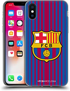Official FC Barcelona Home 2017/18 Crest Kit Soft Gel Case Compatible for iPhone X/iPhone Xs