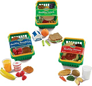 Learning Resources 3 Realistic-Looking Baskets of Nutritious Mealtime Food