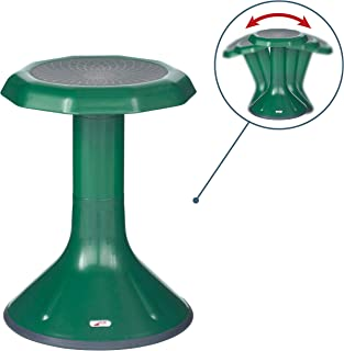 ECR4Kids ACE Active Core Engagement Wobble Stool for Kids, Flexible Classroom & Home Seating, Kids' Chair, Flexible Seating, Wiggle Chairs, 360 Degree Movement, 18-inch Seat Height, Green