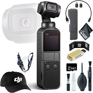 DJI Osmo Pocket Gimbal + Memory Card Wallet + 64GB microSD Memory Card + Baseball Cap & Lanyard and More