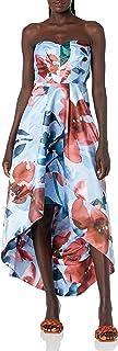 Parker womens Clara Pleated Bodice High Low Dress Formal Dress
