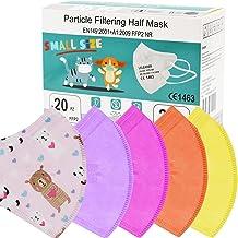 PARTY MONSTER Mascherine taglia piccola Small Size Maschera Facciale Protezione Certificate CE Confezione da 20 Pezzi 5 st...