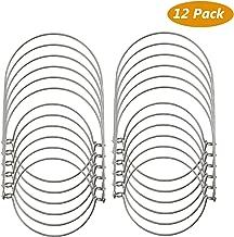 TedGem 12 Pack Wire Handles (Handle-Ease) for Mason, Stainless Steel Mason Jar Hanger, Canning Jars Hanger, Hanging Jars, Jar hanging Hook for Regular Mouth Mason, Ball