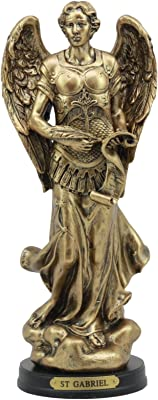 "Ebros Byzantine Catholic Church Archangel Gabriel With Sacred Scroll Statue 8""Tall Saint Gabriel The Messenger Archangel Decorative Figurine"
