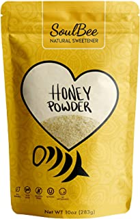 SoulBee GRANULATED HONEY POWDER - Dehydrated honey crystals as Natural Sweetener for drinks and meals low Calories, Non-GMO, Gluten Free - Superfood (crystalized honey granules)