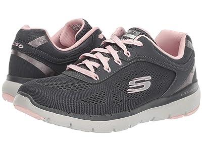 SKECHERS Flex Appeal 3.0 (Charcoal/Pink) Women