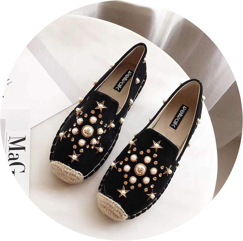 Women shoes Hemp Espadrilles shoes Ladies Creepers Women Loafers Flats Ballet