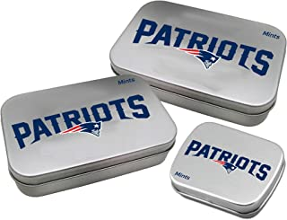 Worthy Promotional NFL New England Patriots Decorative Mint Tin 3-Pack with Sugar-Free Mini Peppermint Candies