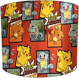 DELPH DESIGN LIGHTING LTD - Pantalla para lámpara de Techo de niños, diseño de Pokémon, 8 Pulgadas