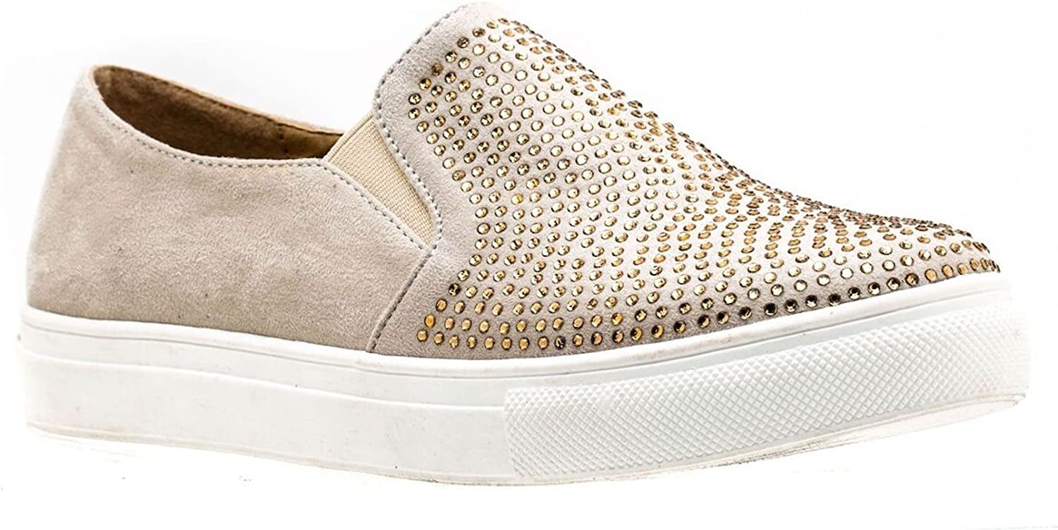 Gc shoes Women's Jackson Embellished Suede Tennis Fashion Sneakers