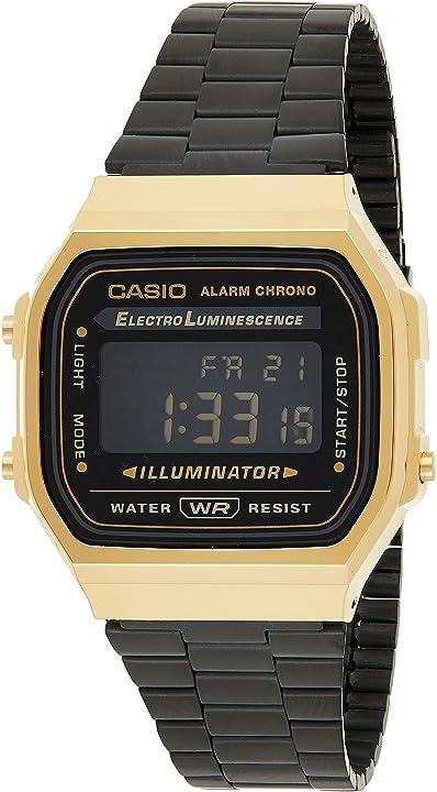 orologio casio vintage digitale a168wegb-1bef b01kv87yz4