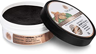 Herbalnize Tamarind Herbal Scrub - Dark Spot and Dead Skin Remover - Natural Facial and Body Cleansing - Face, Elbow, Knee, Armpit Whitening, Brightening and Lightening - Beauty Care Products - 10 Oz