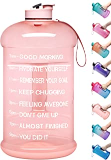 Venture Pal Large 128oz Leakproof BPA Free Fitness Sports Water Bottle with Motivational Time Marker to Ensure You Drink E...