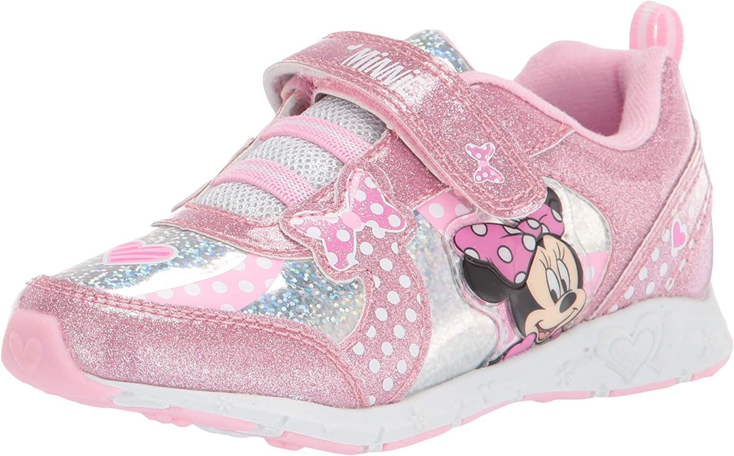 Cheap mail order specialty store Max 77% OFF Josmo Kids Unisex-Child Minnie Lighted Sneaker K Toddler Little