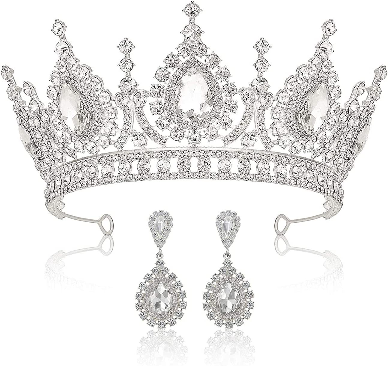 Jsmhh Baroque Tiaras and Max 61% Spring new work one after another OFF Crowns for Crystal Wedding Tiara Women