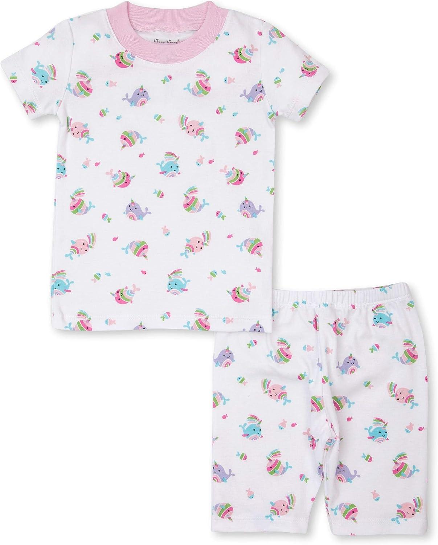 Kissy Kissy Baby-Girls Infant PJs Rainbow Narwhals Print Short Pajamas Set