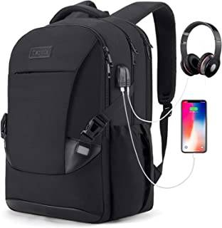Tzowla Travel Laptop Backpack Waterproof Business Work School College Bag Daypack with USB Charging&Headphone Port for Men...