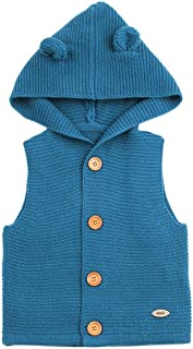 Fineser(TM Toddler Baby Girls Boys Sleeveless Solid Knitted Sweater Vest Cute Baby Causal Waistcoat