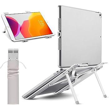 【2020改良版 僅か180g】ノートパソコン スタンド pcスタンド 折りたたみ式 ラップトップスタンド アルミ製 4段の高さ調節可能 持ち運びに便利 優れた放熱性 ノート PC/iPad/Macbook/Macbook Pro 等 8~17.3インチに対応 40KG荷重 銀色