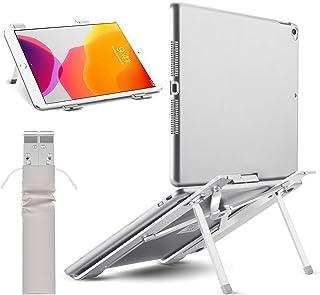 【2020改良版 僅か180g】ノートパソコン スタンド pcスタンド 折りたたみ式 ラップトップスタンド アルミ製 4段の高さ調節可能 持ち運びに便利 優れた放熱性 ノート PC/iPad/Macbook/Macbook Pro 等 8~1...