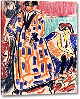 Self-Portrait with Model by Ernst Ludwig Kirchner - 18