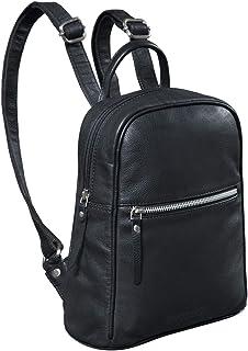 """STILORD Scarlett"""" Vintage Rucksack Damen Klein Leder Rucksackhandtasche Lederrucksack für iPad & 10.1 Zoll Tablet Handtasche City Ausgehen Shopping Daypack, Farbe:schwarz"""