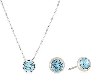 MESTIGE Women Crystal Talia Aquamarine Set with Swarovski Crystals