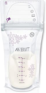 Philips Avent Breast Milk Storage Bags, Clear, 6 Ounce,...
