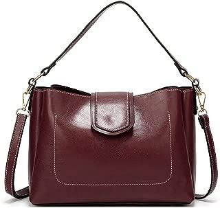 Leather New Women's Shoulder Wallet, Versatile Shoulder Wallet Crossbody Wallet Fashion Lady Wallet Simple Handbag Waterproof (Color : Purple, Size : M)