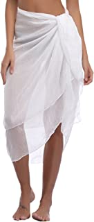 iClosam Pareo Mare Donna Mini Elegante Chiffon Cover Up Wrap Sarong Copricostumi