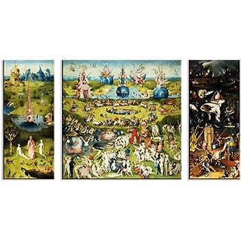 Fajerminart Cuadro En Lienzo - Impresiones En Lienzo Arte de la Pared - Famous Art Garden of Earthly Delicias Réplica Cuadro En Lienzo Decoraciones De Pared Para La Sala de Estar (Sin