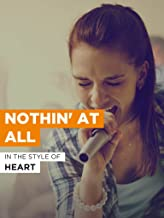 Nothin' At All