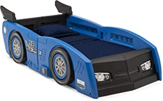 Delta Children Grand Prix Race Car Toddler-to-Twin Bed, Blue