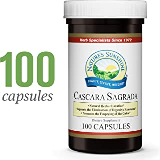 Nature's Sunshine Cascara Sagrada, 100 Capsules | Natural Laxative from Herbs Helps to Cleanse The Colon and Support Intestinal System Function