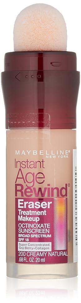 欠陥弱点ポルティコMAYBELLINE Instant Age Rewind Eraser Treatment Makeup - Creamy Natural (並行輸入品)