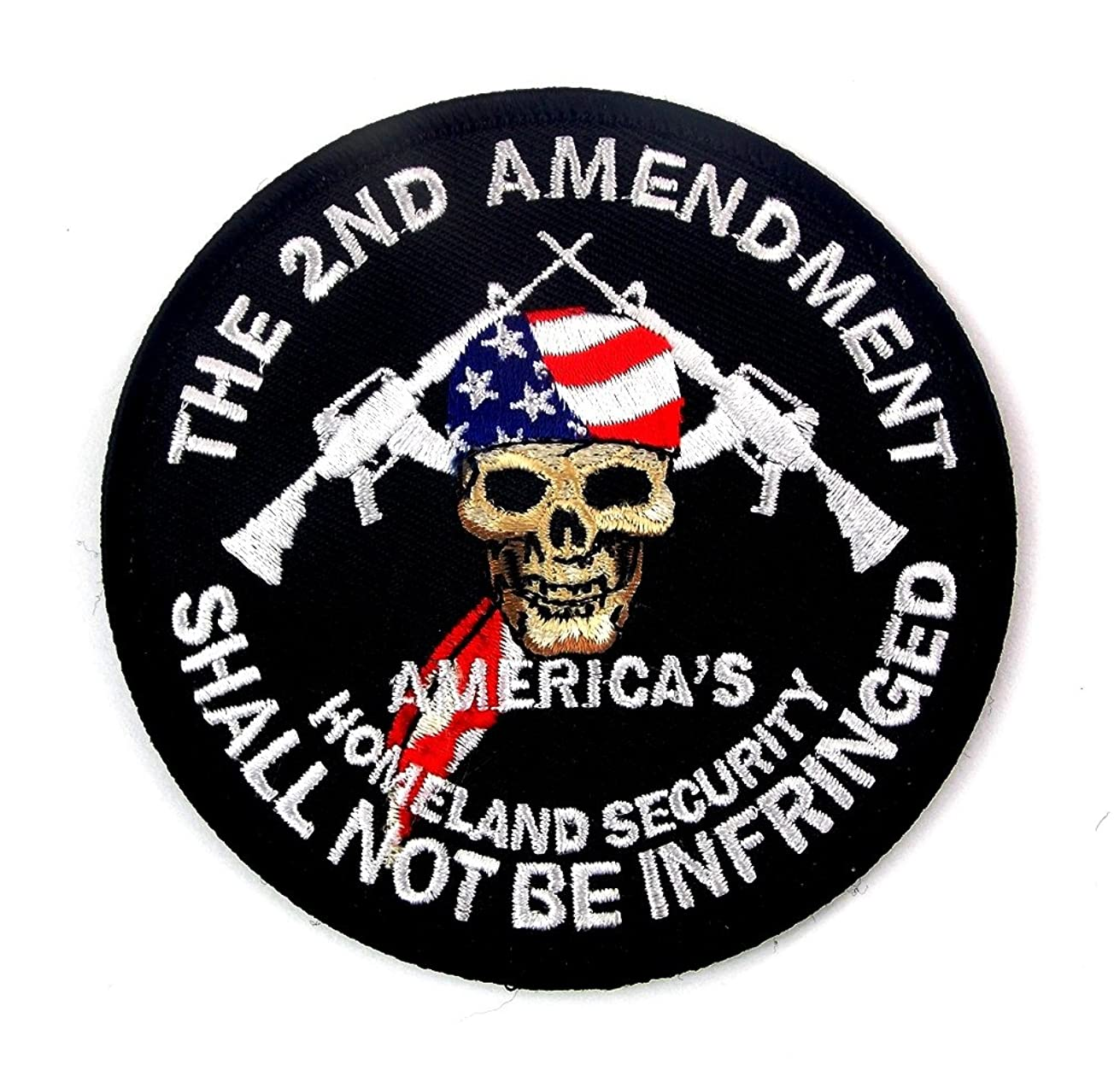 2nd Amendment America's Homeland Security Embroidered Patch Iron Sew BSPM0974