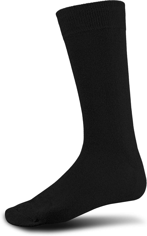 Grey & Harper Classic Black Crew Style Comfortable Socks, Sock Size 10-13 Shoe Size 6-12,