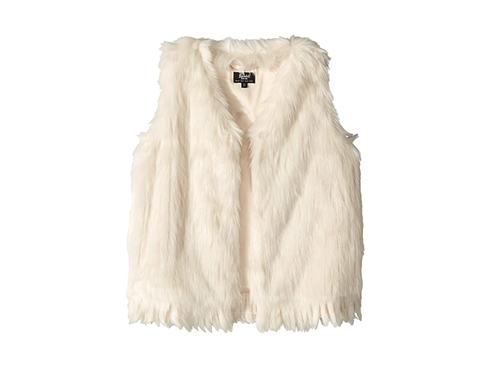 Bardot Junior Fur Waistcoat (Big Kids) (Pebble Ivory) Girl