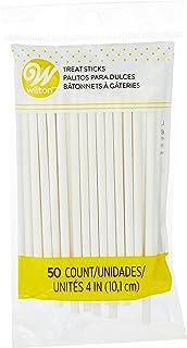 Wilton 4 Inch Lollipop Sticks, 50 Count (White) (1912-1006)