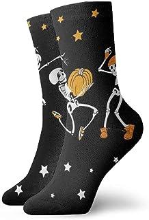 AEMAPE, Medias de esqueletos musicales y bailables para hombre de lujo colorido divertido novedad calcetines regalo
