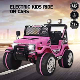 Vosson Kids Car to Drive 12V Power Kids Jeep Car Kid Ride On Car with Lights Music Remote Control Childs Electric Car