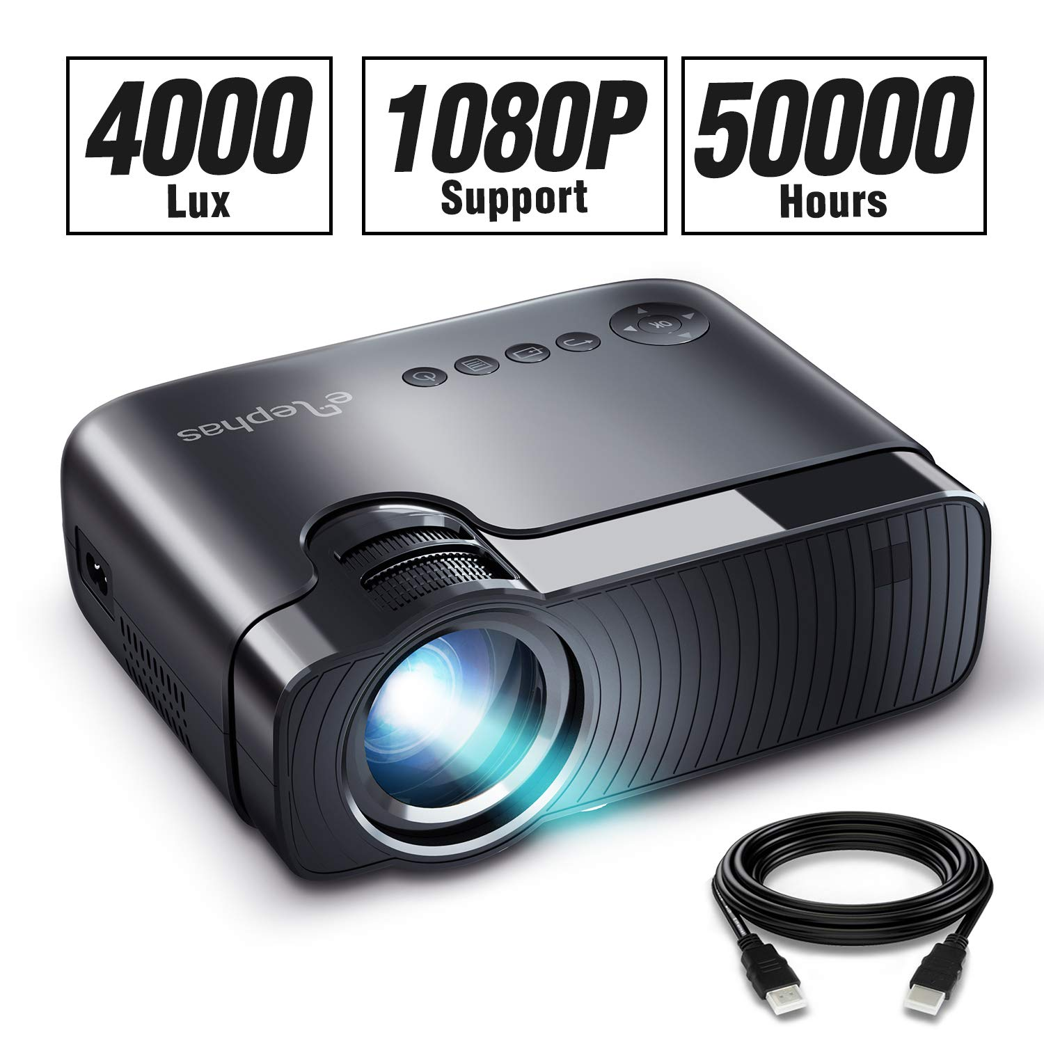 ELEPHAS Projector Portable Compatible Interfaces