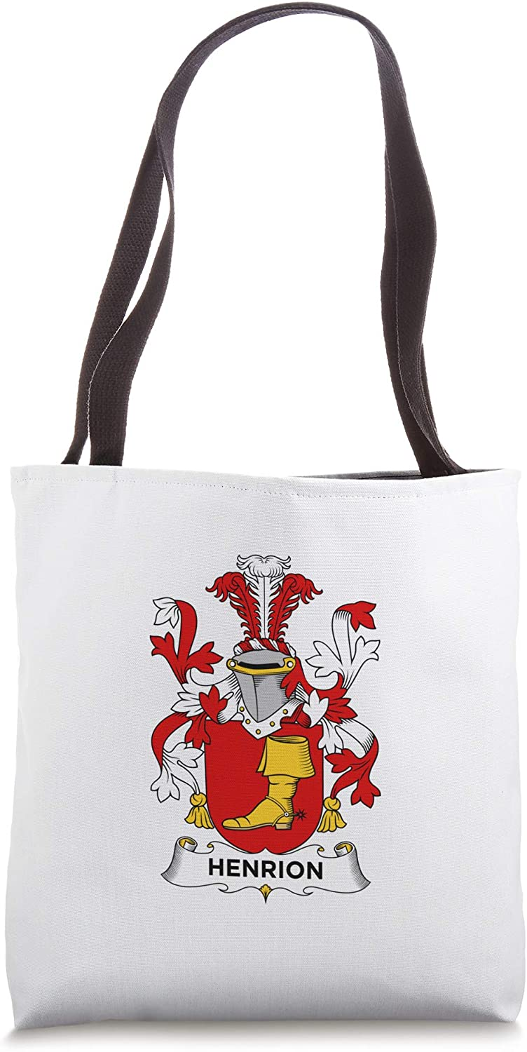 Henrion Coat of Arms - Family Crest Tote Bag