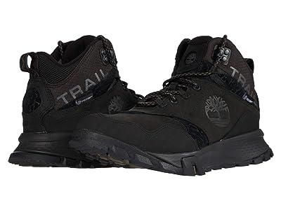 Timberland Garrison Trail Waterproof Mid Hiker (Black Suede) Men
