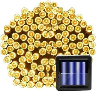 سلسلة مصابيح للزينة في الهواء الطلق داخلي 22 متر 200 ليد الشمسية الجنية ضوء خارجي ماء سلسلة شمسية ضوء الشارع إكليل حديقة ع...