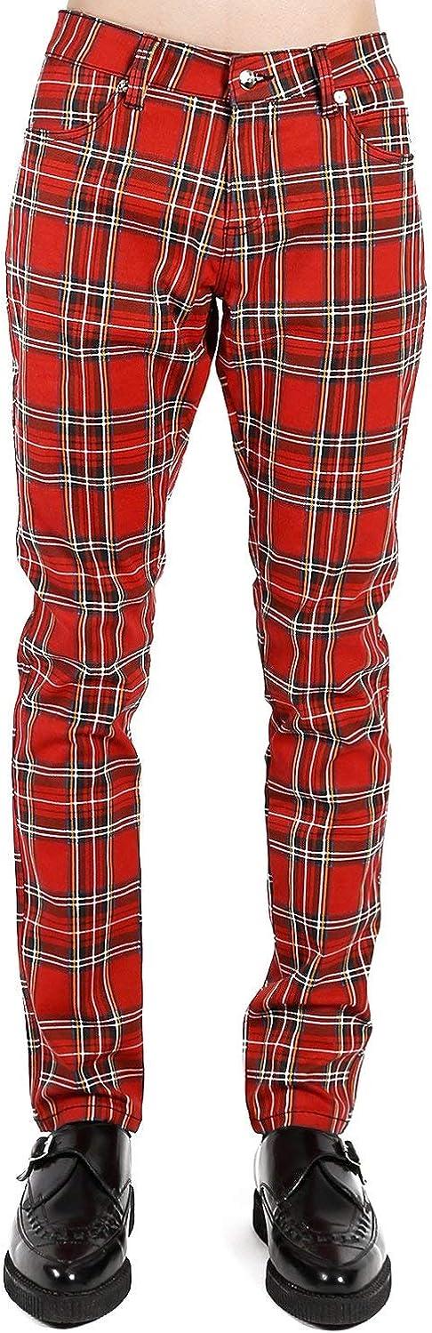 Tripp Under blast sales Red Plaid Jeans Rocker Finally resale start