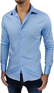 Camicia Uomo Sartoriale Slim Fit Aderente Casual Elegante