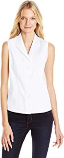 Women's Sleeveless Wrinkle Free Button Down Shirt